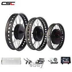 135 front 170/190mm rear fat tire ebike conversion kit 1500W Electric bike kit