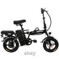 14 250W Fat-Tire Folding Mountain Snow Beach Electric Bike Bicycle E-Bike W LCD