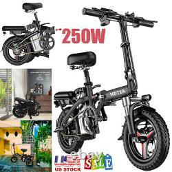 14 Fat Tire Electric Snow Mountain Bicycle Folding E-Bike 250W Urban Commuter