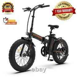 20 500W 36V Fat Tire Mountain Beach Electric Bike Bicycle EBike E-Bike LCD