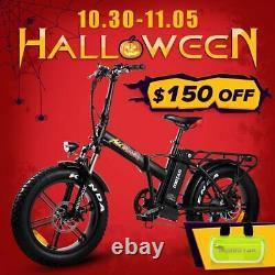 20 750W Folding Electric Bike Addmotor MOTAN M-150 R7 48V Fat tire E-Bike Black