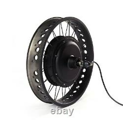 20in Fat E-bike Wheel 1 Piece 36/48V 500/1000/1500W Snow Electric Bicycle Wheel