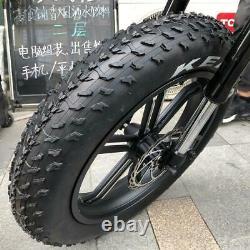 20x4.0 E-bike Snowfield Tire Front And Rear Wheel Beach Bike Wheel 20 Inch 60tpi