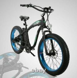 26 1000W 48V Fat Bik Tire Mountain Beach Electric Bike Bicycle EBike E-Bike LCD