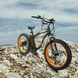 26 1000W 48VOLT Fat Tire Mountain Electric Beach Bike Bicycle EBike E-Bike LCD