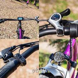 26 Electric Bike Fat Tire E-Bike 750W Maxfoot MF-17 Step-Thru Bicycle Battery
