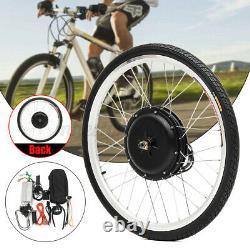 26'' Front/Rear Wheel Electric Bicycle Motor Kit E-Bike Conversion 1000W 48V A+