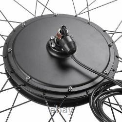 26 Front Wheel Electric Bicycle Kit 48V E-Bike Cycling Hub Conversion 1000W