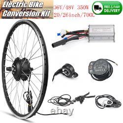 36/48V Electric Bicycle Hub Motor Wheel Display E-bike Conversion DIY Refit Kit