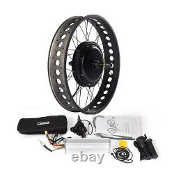 36/48V Fat Ebike Conversion Kit No Display for 20/24/26 x4.0 Snow Bicycle