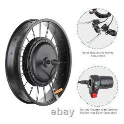 48V 1000W 20 Electric E-Bike Front Wheel Bicycle Motor Conversion Kit Fat Tire