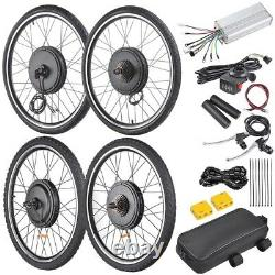 48V 1000W 26 Front Rear Wheel Electric Bicycle Motor E-Bike Conversion Kit