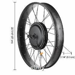 48V 1000W Front Fat Tire Electric Bike eBike Conversion Kit 26 3.25 Width Rim