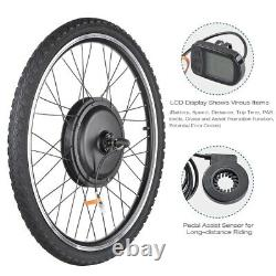 48V 1000W Front Wheel Electric Bicycle E-Bike Conversion Kit Cycling Motor LCD