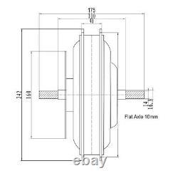48V 1500W Ebike Brushless Gearless MTB Hub Motor Cassette Electric bicycle Motor