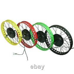 48V Electric Fat e Bike Kit 20 24 26inch 4.0'' wide tire bicycle conversion 750W