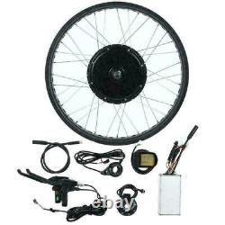 72V Front Wheel Electric Bicycle Motor Conversion 3000W eBike KT-LCD5 MeterG