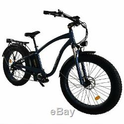 750W 26 Fat Tire Electric Bicycle MaxFoot MF-18P Retro Beach Cruiser E-Bike