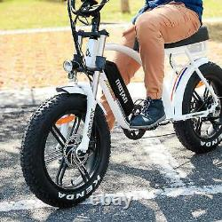 750W Electric Bicycle Fat Tire Bike Addmotor M-60 R7 Urban Beach Cruiser EBike