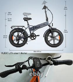 750W Electric Mountain Bike 48V Folding Ebike 4.0 Fat Tire Ebike Cruiser Men Spo