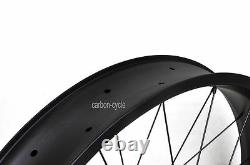 80mm Carbon Fat Bike Front Wheel Clincher 26er Rim UD Matt MTB Snow qr thru axle
