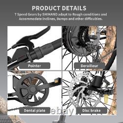 AOSTIRMOTOR 1500W Electric Bike Mountain Bicycle 48V/15Ah 26 Fat Tire E-bike US