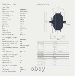 BAFANG E-Bike Vorderrad Motor 350W 36V Front FWD G020 FM. G020 26-29 Nabenmotor