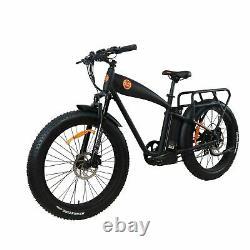 E-Bike Fat Tire Electric cruiser Power bike1000w 14.5ah 26 Ebike BEACH CRUISER