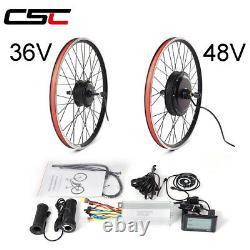 E-bike Conversion Kit 36V 250W 350W 48V 500W 1000W 1500W front rear Motor Wheel