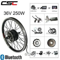 EBIKE Front Rear motor wheel 36V 250W Bluetooth Electric Bicycle Conversion kit