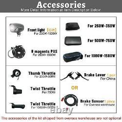 EBike Conversion Kit 48V 1500W 1000W 750W 36V 500W Front Rear e-bike e Bike Whee