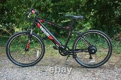 EBike Electric Mountain Bike 26 Puncture Proof Tyres Black
