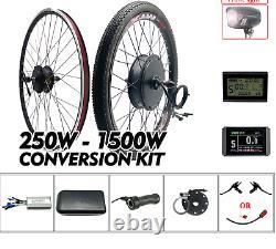 EBike Elektrisch Bicycle Brushless Front Rear Wheel Gear Hub Motor Conversion
