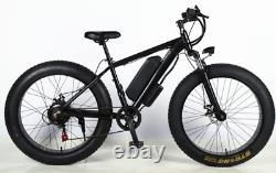 ELECTRIC BIKE FAT TYRE 26 1000W 48V 10Ah Mountain Ebike 7 SPEED