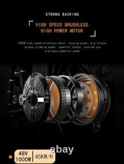 ELECTRIC BIKE FAT TYRE 26 1000W 48V 13Ah Sharps BLACK Ebike 27 SPEED 50KM Range
