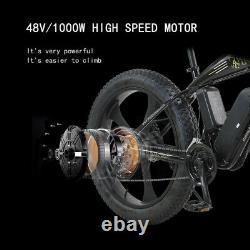 ELECTRIC BIKE FAT TYRE 26 1000W 48V 13Ah Sharps WHITE Ebike 27 SPEED 50KM Range