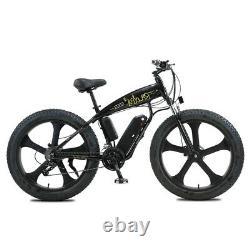 ELECTRIC BIKE FAT TYRE 26 350W 48V 13Ah SHARPS Black Ebike 27 SPEED 50 KM Range