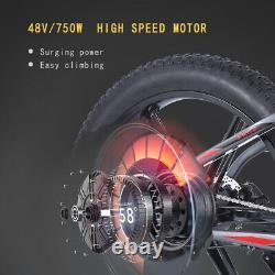 ELECTRIC BIKE FAT TYRE 26 750W 48V 13Ah Cruiser S Black PREMIUM Ebike 40 KM