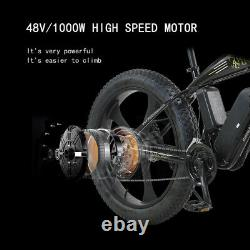 ELECTRIC BIKE FAT TYRE 26 750W 48V 13Ah SHARPS WHITE Ebike 27 SPEED 50 KM Range