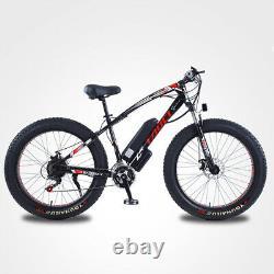 ELECTRIC BIKE FAT TYRE 26 750W 48V 13Ah TAOCI Black Ebike 21 SPEED 50 KM Range