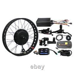 Ebike Bicycle 48V 1500W Fat Bike Snow Front Wheel Conversion Kit 20'' 24 26