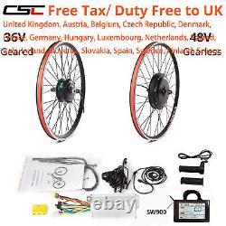 Ebike Conversion Kit 36V 48V 350W 1500W Motor Bike Wheel 26 27.5 29 Inch 700C