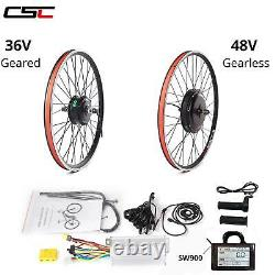 Electric Bicycle Motor Conversion Kit Front Rear Wheel E Bike Cycling Hub