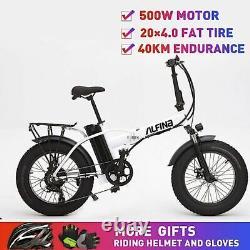 Electric Bicycle Snow Mountain Bike 20inch 4.0 Fat Tire Ebike Beach 500w 40km