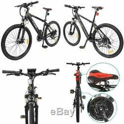 Electric Bike HOTEBIKE Mountain Bike 36V 350W 26inch eBike Powerful Motor