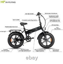 Electric Folding E-Bike 500W-48V, Fat tyre 20 Inch 12.5Ah, Speed 30mph
