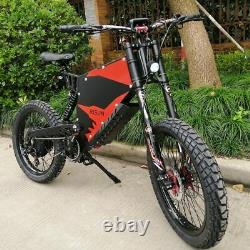 Electric Mountain E-Bike 72V 8000W full suspension best 2021 60MPH