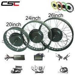 Electric snow bicycle Conversion Kit 48V 500W 20 24 26 inch 4.0 Tyre fat Ebike