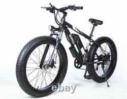 FAT TYRE ELECTRIC BIKE 26 1000W 48V 10Ah Mountain Ebike 7 SPEED BLACK & WHITE