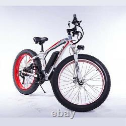 FAT TYRE ELECTRIC BIKE 26 350W 48V 10Ah High power Mountain Ebike 21 SPEED